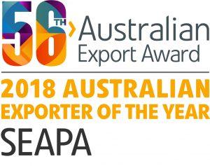 オーストラリア最優秀輸出企業賞 Exporter of the Year 2018